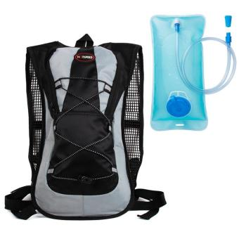 Outdoor Hiking Shoulder Outdoor Riding Casual Polyester Travel Hydration with 2L Hydration Pack with Water Bladder Camping Hunting Running Hiking Cycling Walking Climbing Skiing Bag Daypack for Men Women Kid - intl