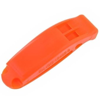 Outdoor Life-saving Double Frequency Design Whistle with Back Splint Orange