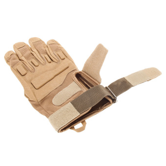 Outdoor Military Airsoft Hunting Paintball Cycling Army Gloves(Khaki M) (Intl) - picture 2