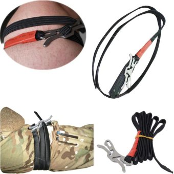 Outdoor Military belt Stop hike emergent kit rescue camp TraumaBleed medical bandage first aid survive Tourniquet Lifesave - intl