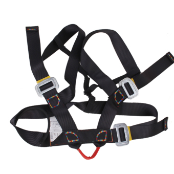Outdoor Rappelling Climbing Harness Seat Safety Sitting Bust Belt (Black) - 4