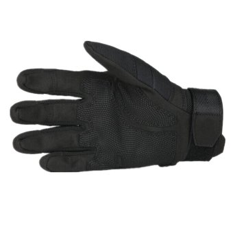 Outdoor Ridding Climbing Training Tactical Gloves men's Sports Gloves (Black)