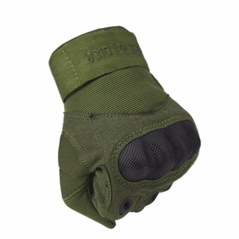 Outdoor Ridding Climbing Training Tactical Gloves men's SportsGloves (Army green)
