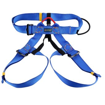 Outdoor Rock Climbing Rappelling Safety Belt Harness - blue