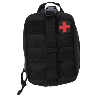 Outdoor Survival Medical First Aid Bag Climbing Emergency Pouch(Black) - intl