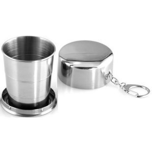 Outdoor travel stainless steel folding cup