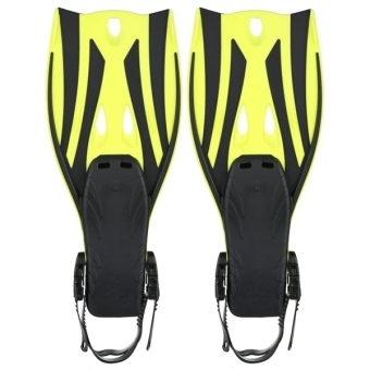Pair of Wave Snorkeling Open Heel Fins Flippers - Size S/M (Yellow)- intl