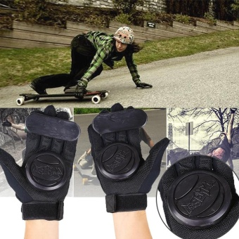 Pair Skateboard Freeride Grip Slide Protective Gloves Longboard with Foam Palm - intl - 4