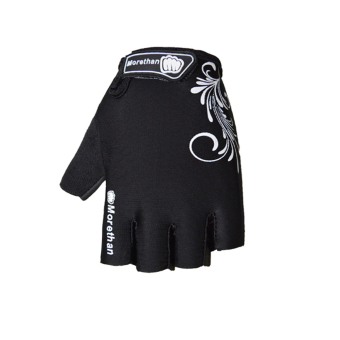 PAlight Breathable Anti-slip Anti-shock Cycling Gloves (Black M) - 2