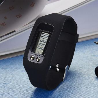 PAlight Digital LCD Pedometer Run Step Walking Distance CalorieCounter Sport Watch Bracelet - intl