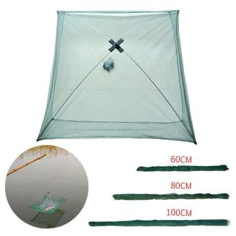 PAlight Fishing Net Foldable Folding Mesh Nylon Fishing Net BaitsTrap Cast Dip Crab Shrimp Net - intl