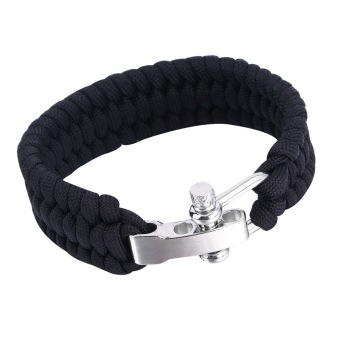 Paracord Bracelet Camping Rope Clasp (Black)