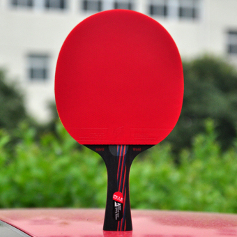 PELE Entry-level Carbon Table Tennis Racket Ping Pong Paddle SendTable Tennis (Red-70)