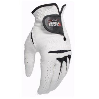 PGM Men's Golf Gloves Slip Breathable Sheepskin Gloves (White) - 3