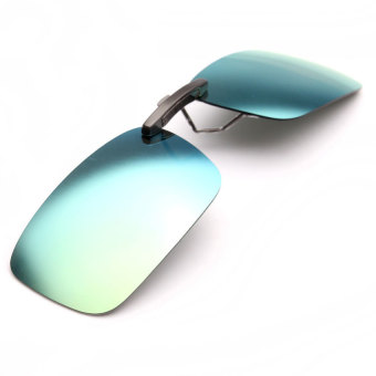 Polarized Clip On Sunglasses Sun Glasses Driving Night Vision Lens- INTL