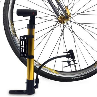 Portable Bicycle Air Pump (Gold)