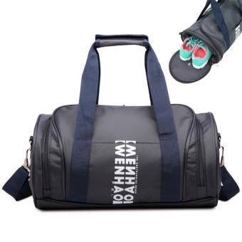 Portable Women Men Outdoor Travel Handbag Sports Gym Tote Bag(Big)- intl