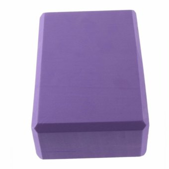 Practice Fitness Gym Sport Tool Yoga Block Brick Foaming Foam HomeExercise(Purple) - 3