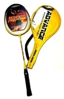 PRO-329 type Keka Professional Single Badminton Racket (Yellow)