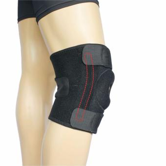 PROCARE PROTECT #6029 Knee Support Brace 9-inch with Stabilizer on Both Side, Open Patella Adjustable, Unisex