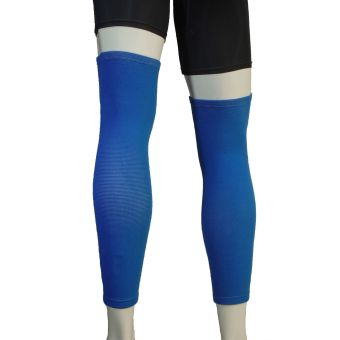 PROCARE PROTECT #6044AB Leg Sleeves 17-inch, Thigh Knee ShinSupport, Elastic 4-way Spandex Seamless PAIR (Blue) - 3