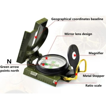 Professional Compass Military Army Geological Compass For Outdoor Hiking Camping Survival Mini Boussole Handheld Compas   - intl - 5