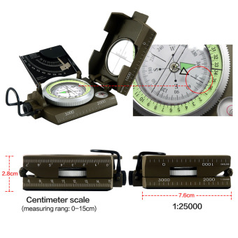 Professional compass Military Army Geology Compass Sighting Luminous Compass for Outdoor Hiking Camping - 3