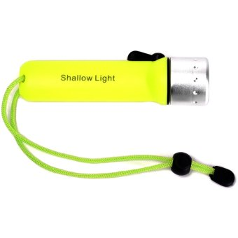 Professional flashlight for diving waterproof Torch Underwater Lamp(Yellow)