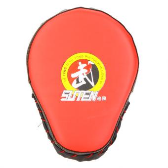 PU Leather Boxing Mitt Training Target Focus Punch Pad Glove Muay Thai Sanda Kick MMA Taekwondo