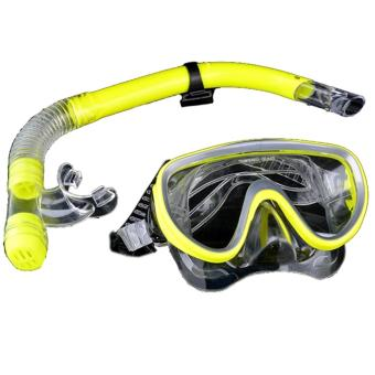 PVC Swimming Scuba Anti-Fog Goggles Mask Dive Diving Glasses w/ DrySnorkel Set