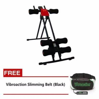 Quality Ab Glider (Red) with FREE Vibroaction Slimming Belt (Black)