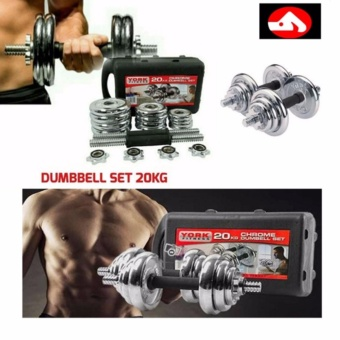Quality York Chrome Dumbell Set 20kg Gym Fitness Dumbbell