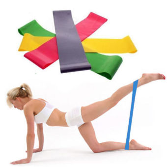 Resistance Band Loop Yoga Pilates Fitness Exercise Workout Training- intl