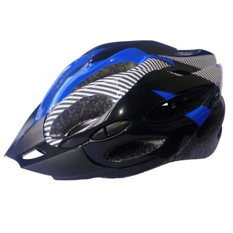 Road Mountain 21 Vents and Sun Visor Adult Bicycle Helmet (Blue)