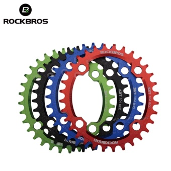 ROCKBROS 32T/34T/36T/38T Crankset MTB Bike Bicycle Parts Oval RoundBicycle Bike Crank & Chainwheel 104BCD Wide NarrowChainring(34T Oval Black) - intl - 2