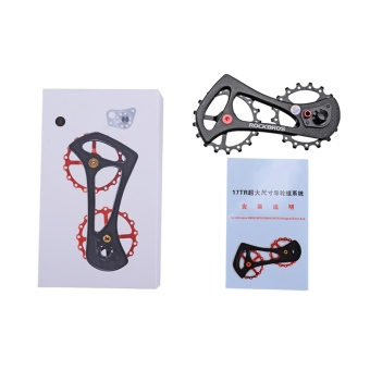 RockBros Bike Pulley Wheel Rear Derailleur Jockey Wheel 17T CarbonFiber Two Color(Black) - intl - 5