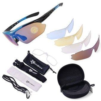 ROCKBROS Cycling Sunglasses Outdoor Sports Glasses Polarized 100%UVA UVB - 2