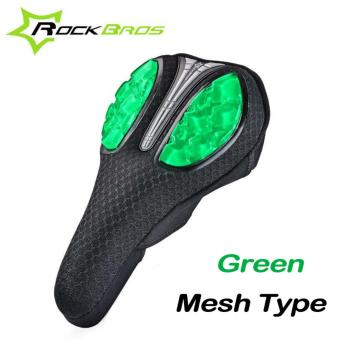 RockBros Mesh Type Liquid Silicone Bicycle Cushion Sets Fast Disassembly Breathable Cycling Saddle Cover Safe Soft Bike Seat Mat Comfortable Seat Cover
