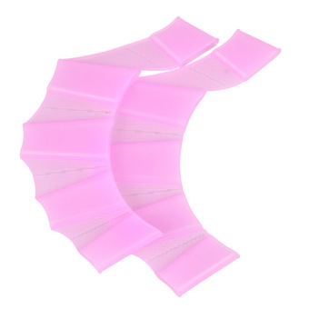 Rosy Silicone Frog Palm Swimming Fins Hand Webbed Gloves Flippers Size S