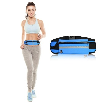 Running Belt (5 Color, 3 Pockets) Waterproof Fanny Pack RunningGear Running Waist Pack / Bag for Iphone 7 / 6s / 6 & Iphone 7/ 6s / 6 Plus and Samsung Phone Smartphone Accessory - intl