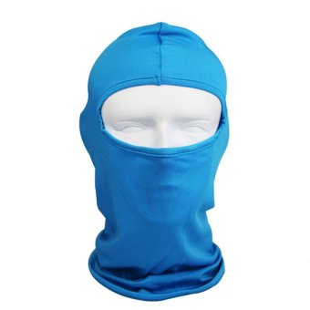 S & F Sky Blue Outdoor Cycling Face Mask - INTL