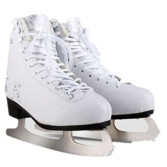 SALSA Professional Adult Roller Style Ice Hockey Skating Blade Sport Shoes (White) (Intl) - intl