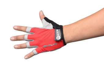 SAVA Half Finger Cycling Gloves XL (Red) Price Philippines