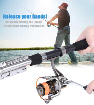 Sea River Lake Stainless Steel Automatic Fishing Rod Fish Pole 2.1M