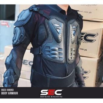 Sec 00093 Motocross Motorcycle Body Armor (Black)