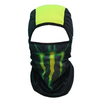 Sec 00636 Dual Purpose Full Face Mask (GREEN MONSTER)