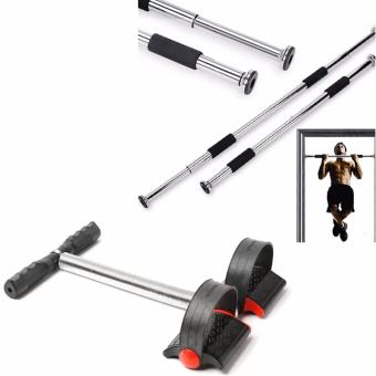 SellinCost Top Grade Iron Gym Pull Up Door Gym Chin Up Bar With Tummy Trimmer (Black)