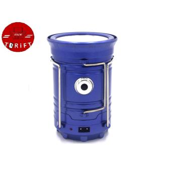 SHOP AND THRIFT Rechargeable 5800 Solar Camping Lantern EmergencyLED Light BLUE