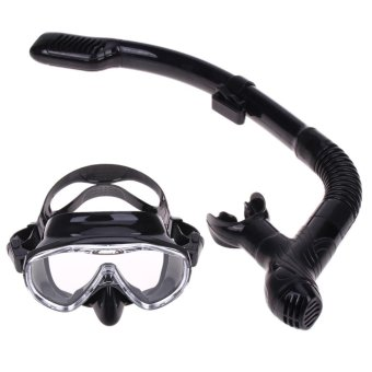 Silicone Diving Mask Anti-Fog Goggles Glasses + Snorkel BreathingTube Set - intl - 5