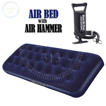 Single Person Air Bed with AIR HAMMER (TM) Inflation Pump